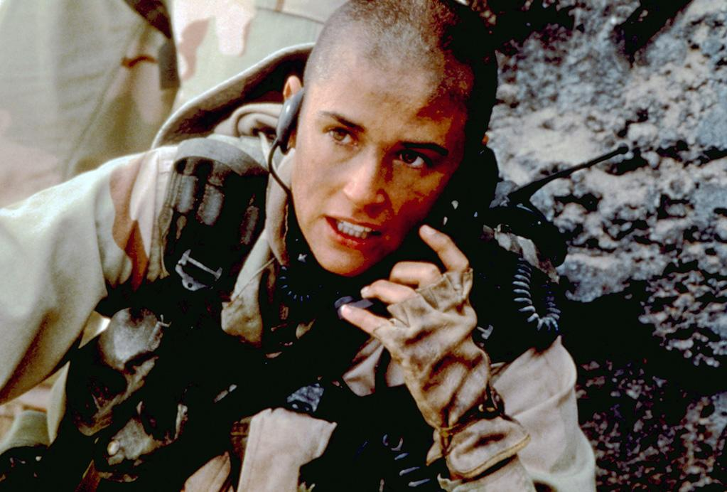"""<a href=""""http://movies.yahoo.com/movie/contributor/1800012196"""">DEMI MOORE</a>, <a href=""""http://movies.yahoo.com/movie/1800291767/info"""">GI Jane</a>  She's tough, she's bald, and she can do countless push-ups in the rain. That can only mean she's GI Jane."""