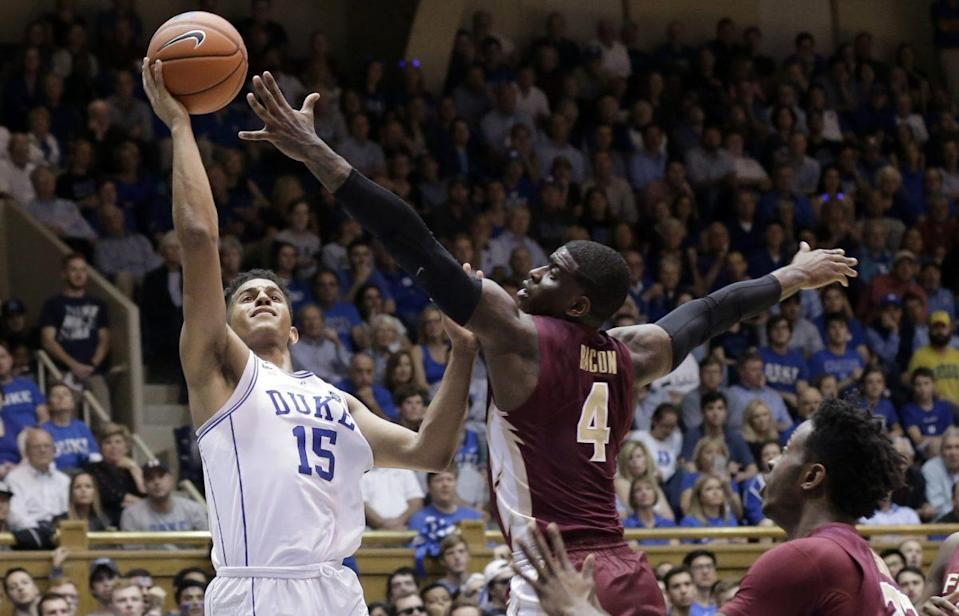 The Duke freshman erupted for a season-best 22 points on Tuesday night. (AP)