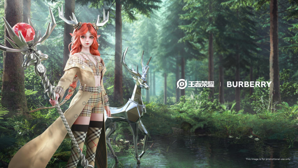 The 'Spirit of Nature' for Yao, one of the co-creations produced by the collaboration between Honor of Kings and Burberry. (Photo: Tencent)