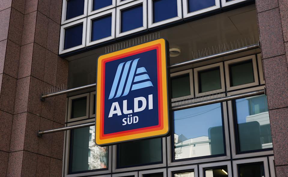 MUNICH, GERMANY - MAY 09: An Aldi Süd sign is seen on May 09, 2021 in Munich, Germany. (Photo by Jeremy Moeller/Getty Images)