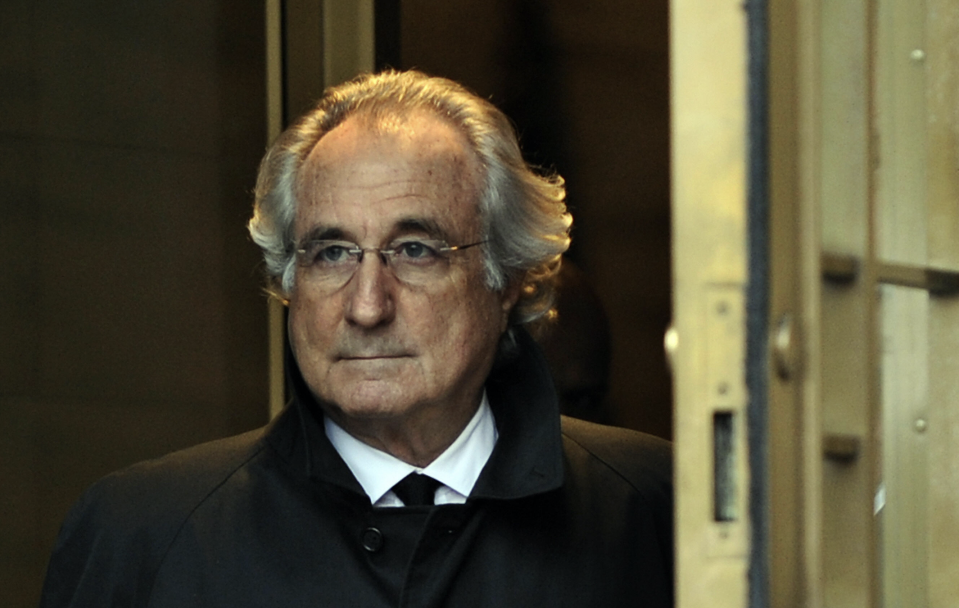 Bernard L. Madoff leaves US Federal Court after a hearing regarding his bail on January 14, 2009 in New York. (Photo: TIMOTHY A. CLARY/AFP/Getty Images)