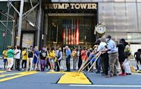 New York City's government painted a Black Lives Matter slogan outside Trump Tower