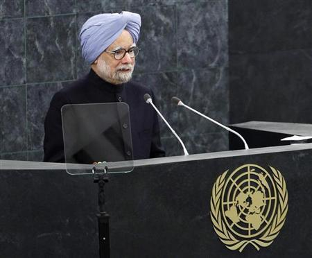 India's PM Singh addresses the 68th United Nations General Assembly at U.N. headquarters in New York