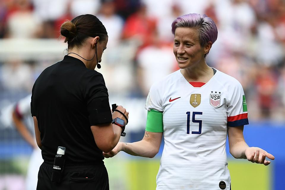 One of U.S. Soccer's latest equal pay arguments is dismaying at best. (Photo credit should read FRANCK FIFE/AFP via Getty Images)