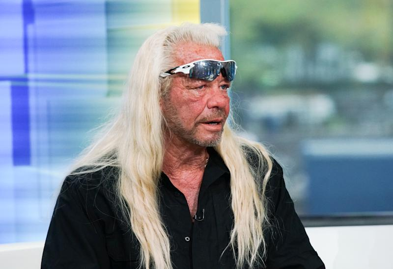 "NEW YORK, NEW YORK - AUGUST 28:TV personality Duane Chapman aka Dog the Bounty Hunter visits ""FOX & Friends"" at FOX Studios on August 28, 2019 in New York City. (Photo by Bennett Raglin/Getty Images)"