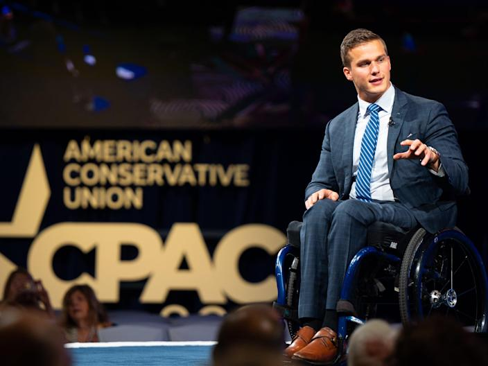 Rep Madison Cawthorn (R-NC) speaks during the Conservative Political Action Conference CPAC held at the Hilton Anatole on July 09, 2021 in Dallas, Texas. (Getty Images)