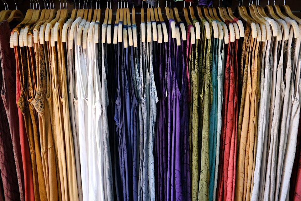 """<p>There's money to be made from those vintage dresses boxed away in your basement, especially going back to the 80s and earlier. Designer duds are more valuable and everything should be in good condition, but groovy gowns from the 60s, for example, can net more than $100 on <a href=""""https://go.redirectingat.com?id=74968X1596630&url=https%3A%2F%2Fwww.etsy.com%2Fsearch%3Fq%3Dmod%2Bdress&sref=https%3A%2F%2Fwww.goodhousekeeping.com%2Flife%2Fg35334508%2Fvaluable-antiques-basement%2F"""" rel=""""nofollow noopener"""" target=""""_blank"""" data-ylk=""""slk:Etsy"""" class=""""link rapid-noclick-resp"""">Etsy</a>.</p>"""