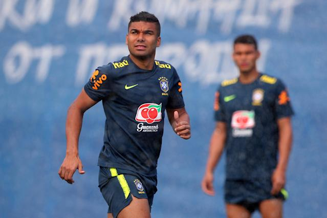 Soccer Football - World Cup - Brazil Training - Brazil Training Camp, Sochi, Russia - June 19, 2018 Brazil's Casemiro during training REUTERS/Hannah McKay