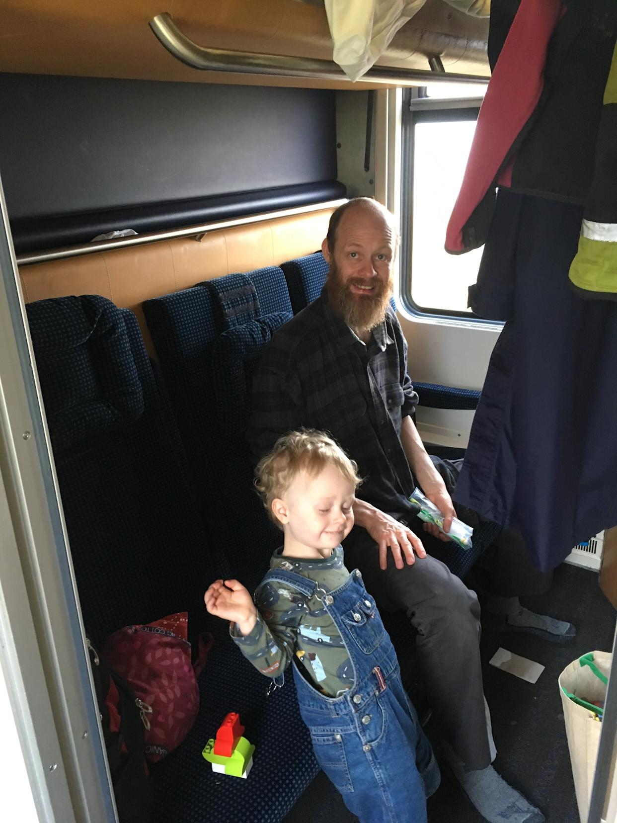 Leah Irby's husband and son on their three-week trip around Europe by train. (Photo: Leah Irby)