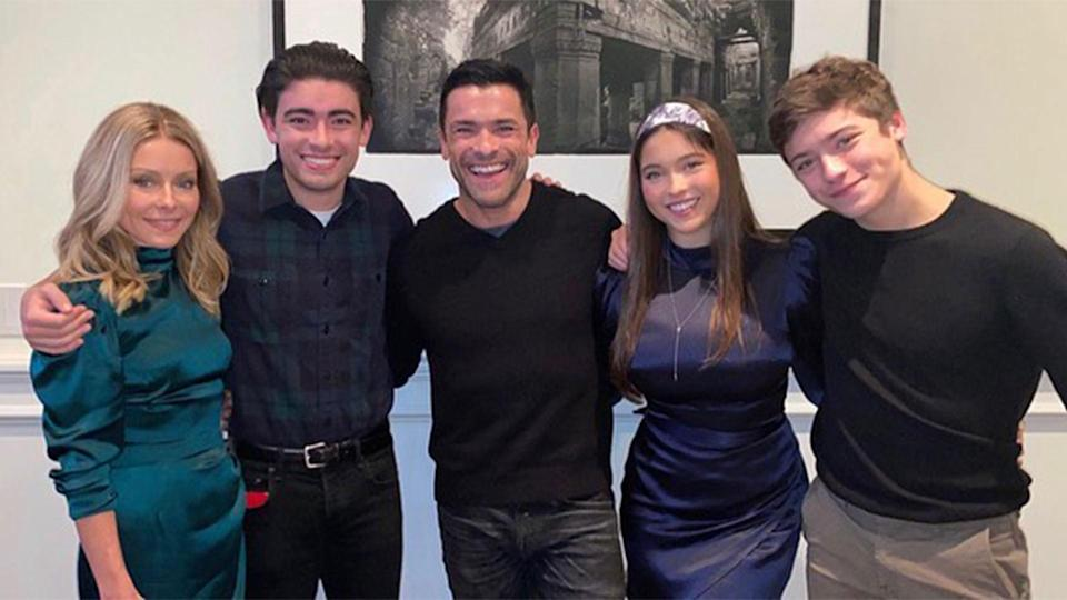 """<p>Ripa celebrated by <a href=""""https://people.com/tv/how-kelly-ripa-and-mark-consuelos-celebrated-thanksgiving-2020-with-family/"""" rel=""""nofollow noopener"""" target=""""_blank"""" data-ylk=""""slk:posting some throwback photos"""" class=""""link rapid-noclick-resp"""">posting some throwback photos</a> of Turkey Days past on Instagram. She <a href=""""https://www.instagram.com/p/CIEJMXvD4X2/"""" rel=""""nofollow noopener"""" target=""""_blank"""" data-ylk=""""slk:shared"""" class=""""link rapid-noclick-resp"""">shared</a>, """"<a href=""""https://www.instagram.com/explore/tags/tbt/"""" rel=""""nofollow noopener"""" target=""""_blank"""" data-ylk=""""slk:#tbt"""" class=""""link rapid-noclick-resp"""">#tbt</a> thanksgiving is not like last year, but we're still grateful that our parents are getting the hang of FaceTime. Sort of. 🦃🦃🦃🦃🦃🦃🦃🦃😂</p>"""