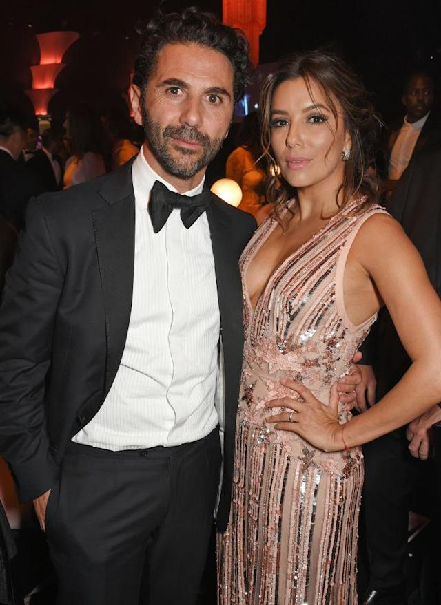 "Jose ""Pepe"" Bastón and Eva Longoria attend the amfAR Gala Cannes 2017 on May 25. (Photo: Dave Benett/WireImage for amfAR)"