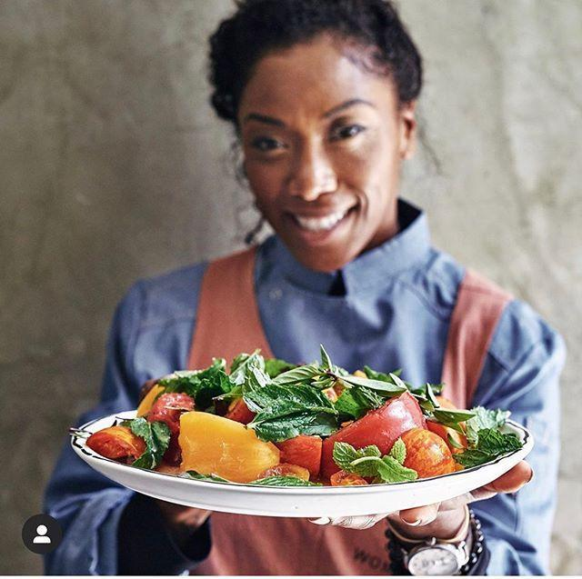 """<p>Nyesha is a highly trained chef whose cooking is a work of art. If you're looking for recipe inspiration, powerful thoughts about the culinary world, fitness tips, and cute pictures of a very good dog named Bleu Ginger, head to Nyesha's page.</p><p><a href=""""https://www.instagram.com/p/B8HNzRLnkv3/"""" rel=""""nofollow noopener"""" target=""""_blank"""" data-ylk=""""slk:See the original post on Instagram"""" class=""""link rapid-noclick-resp"""">See the original post on Instagram</a></p>"""