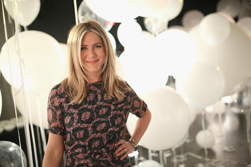 50: Aniston celebrated the occasion surrounded by friends (Getty Images)