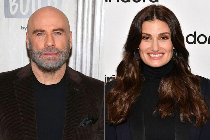 John Travolta and Idina Menzel | Manny Carabel/Getty; Slaven Vlasic/Getty