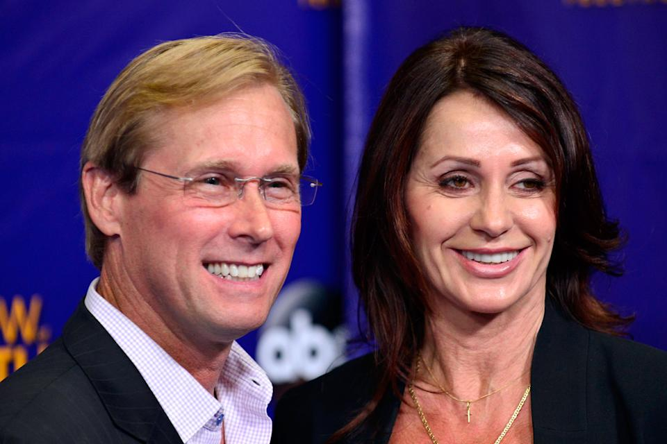 LOS ANGELES, CA - AUGUST 01:  Bart Conner and Nadia Comaneci arrive at the 2013 MDA Show Of Strength at CBS Studios on August 1, 2013 in Los Angeles, California.  (Photo by Jerod Harris/Getty Images)
