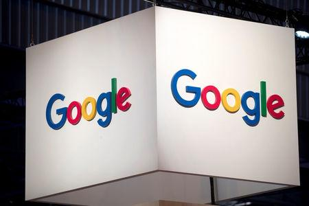 FILE PHOTO: The logo of Google is pictured during the Viva Tech start-up and technology summit in Paris, France, May 25, 2018. REUTERS/Charles Platiau