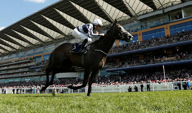 Horse Racing - Royal Ascot - Ascot Racecourse, Ascot, Britain - June 22, 2018 Colm O'Donoghue wins the 4.20 Coronation Stakes on Alpha Centauri Action Images via Reuters/Andrew Boyers