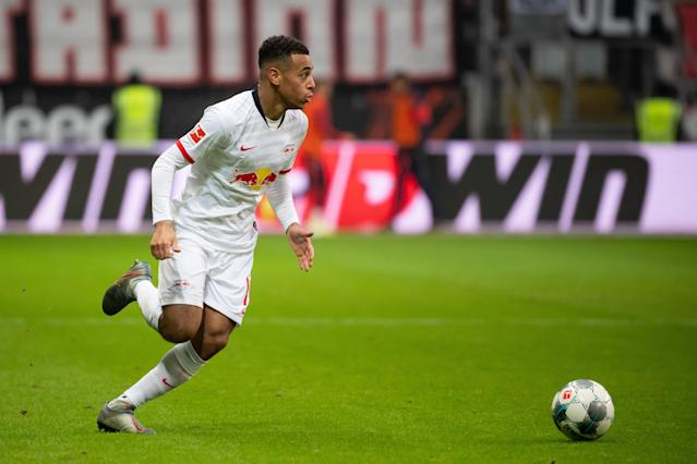 USMNT international Tyler Adams and RB Leipzig will try to stay atop the Bundesliga table against Gladbach this weekend. (Photo by TF-Images/Getty Images)