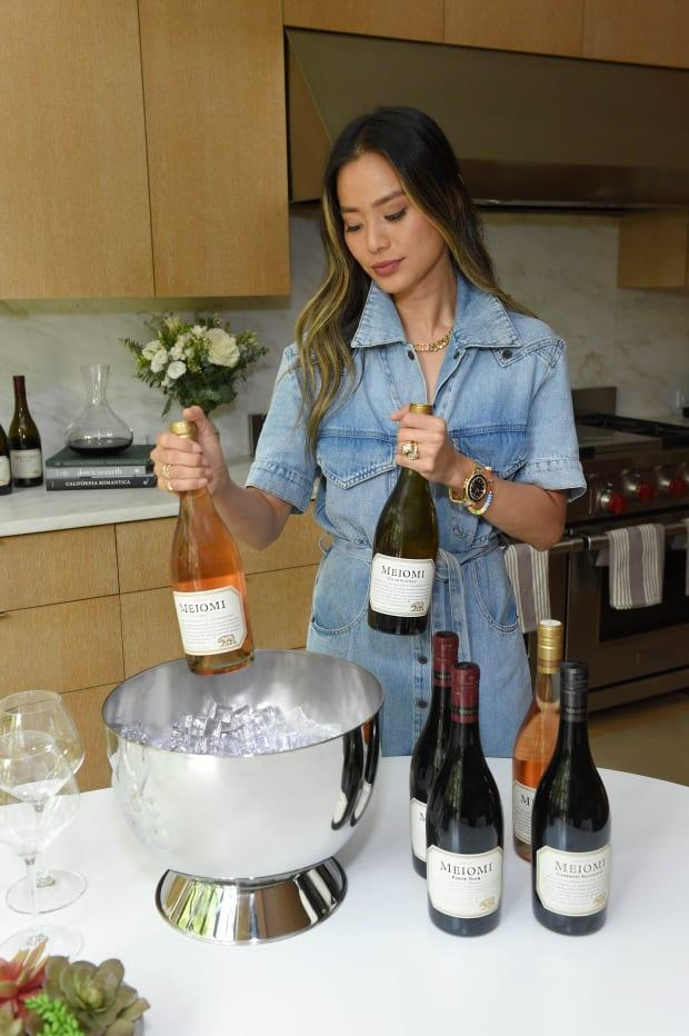 Chung in her campaign for Meiomi Wines.<p>Photo: Courtesy of Meiomi Wines</p>
