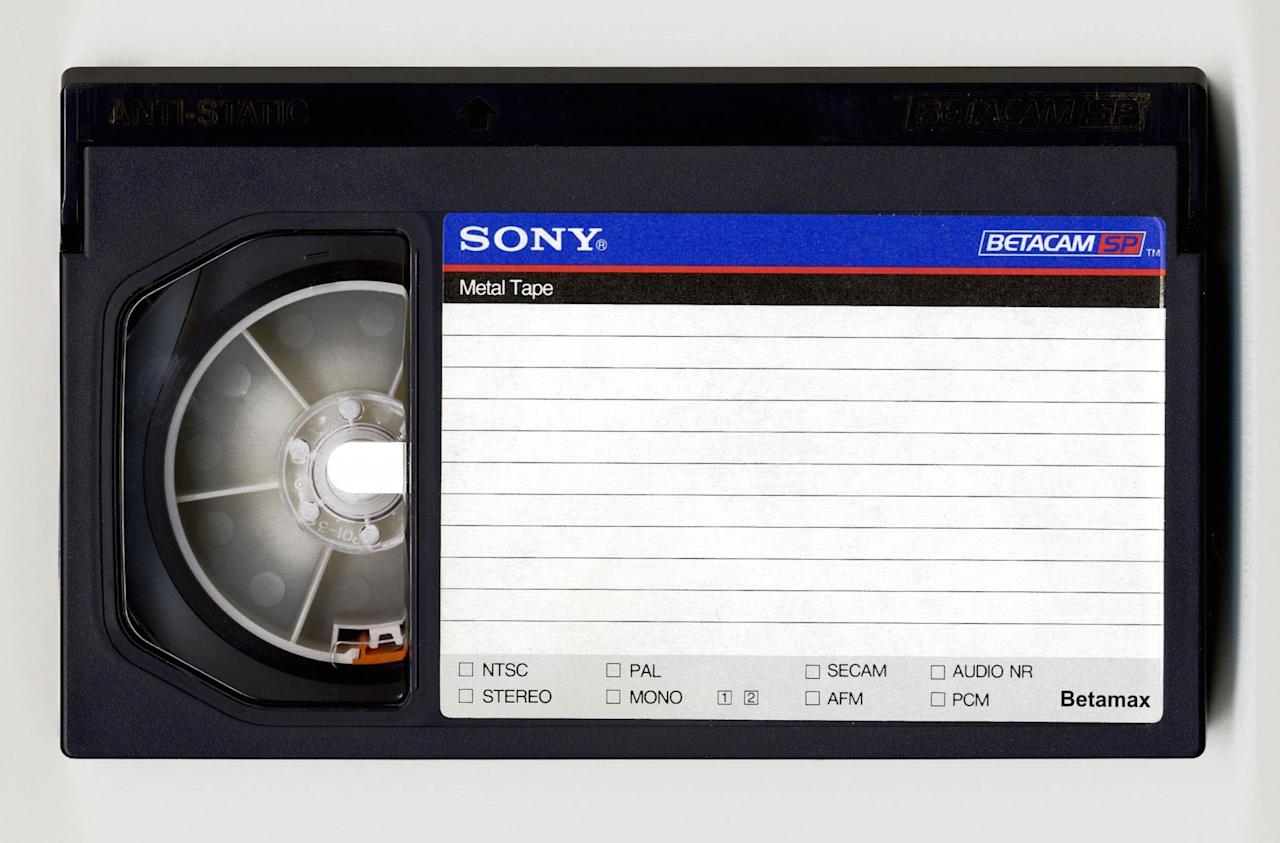 <p>Incredibly, Sony only ceased production of Betamax video tapes last year despite the ageing format losing out to VHS nearly 30 years ago. First launched in 1974, Betamax was theoretically better in quality than VHS but a higher price tag put off buyers. (Sonny Meddle/REX/Shutterstock) </p>