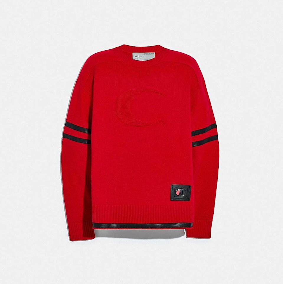 <p><span>Coach x Champion Football Sweater</span> ($495)</p>