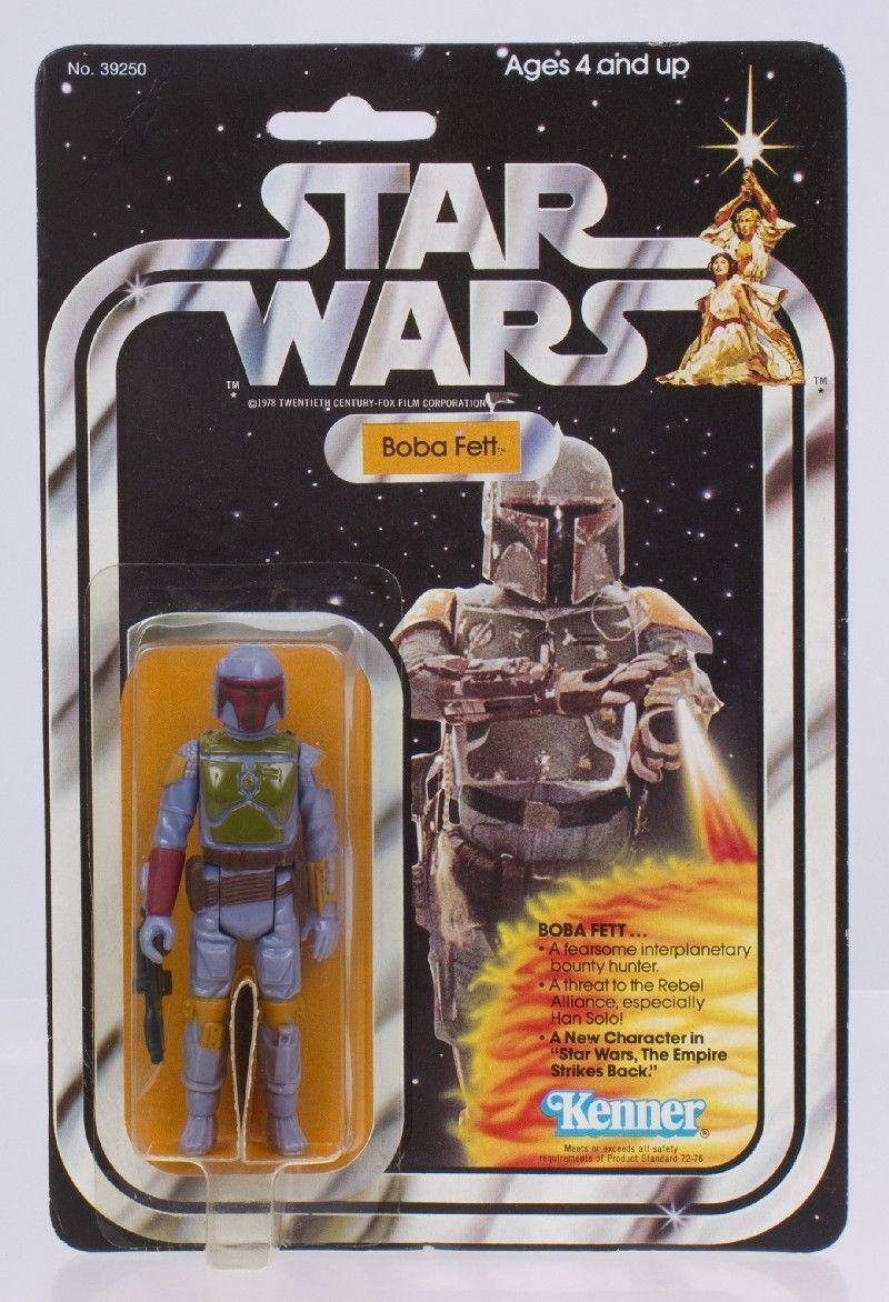 """<p>Given the franchise's massive popularity, it's a safe bet that vintage <em>Star Wars</em> merchandise will command some of the highest prices in the galaxy. Bounty hunter <a href=""""https://www.ebay.com/sch/i.html?_from=R40&_nkw=boba%20fett%20&_sacat=73553&rt=nc&_udlo=3000&_udhi=6000"""" rel=""""nofollow noopener"""" target=""""_blank"""" data-ylk=""""slk:Boba Fett"""" class=""""link rapid-noclick-resp"""">Boba Fett</a> is among the most popular action figure from the films, with mint-condition, in-box versions <a href=""""https://www.bbc.com/news/uk-england-tees-36835510"""" rel=""""nofollow noopener"""" target=""""_blank"""" data-ylk=""""slk:being sold for as much as $32,000"""" class=""""link rapid-noclick-resp"""">being sold for as much as $32,000</a>. </p>"""