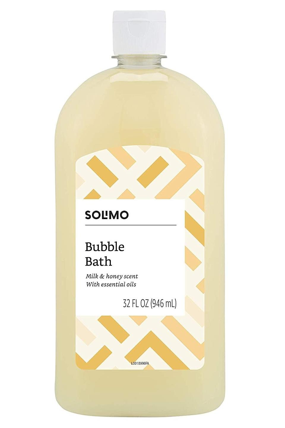 <p>Take a relaxing and soothing bath with this sweet <span>Solimo Milk and Honey Bubble Bath</span> ($4). Who doesn't love a good bubble bath?</p>