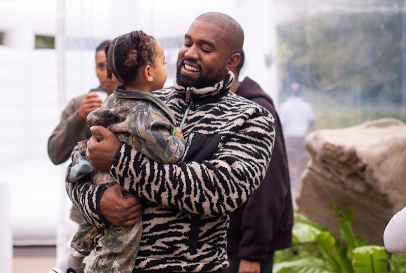 Kanye West and daughter Chicago | Kim Kardashian/Instagram