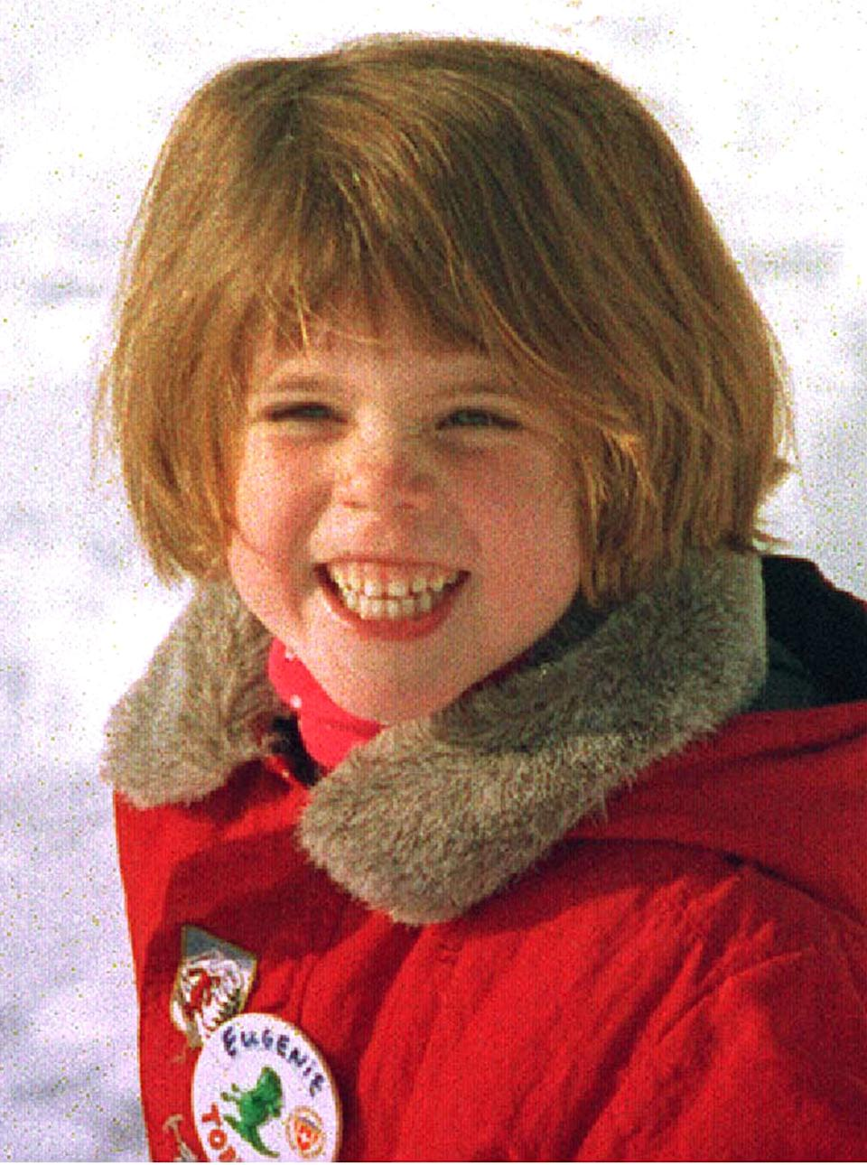 File photo dated 31/12/94 of Princess Eugenie, younger daughter of the Duchess of York, holding a balloon on the ski slopes of Klosters. The youngest daughter of the Duke of York and Sarah, Duchess of York, is turning 30 on Monday.