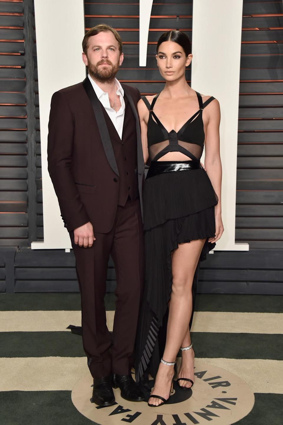 <p>The lead singer of Kings of Leon first caught the eye of Lily Aldridge in 2007. Four years later, they were married and now have a daughter who goes by the adorable name of Dixie Pearl. <i>[Photo: Getty]</i> </p>