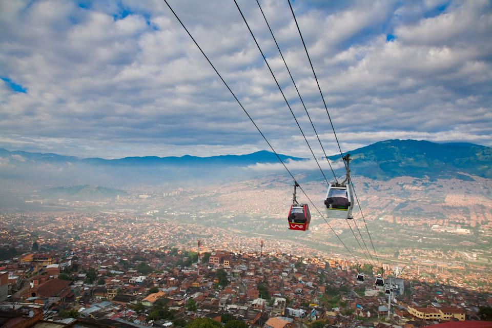 Explore Medellin by cable car - getty