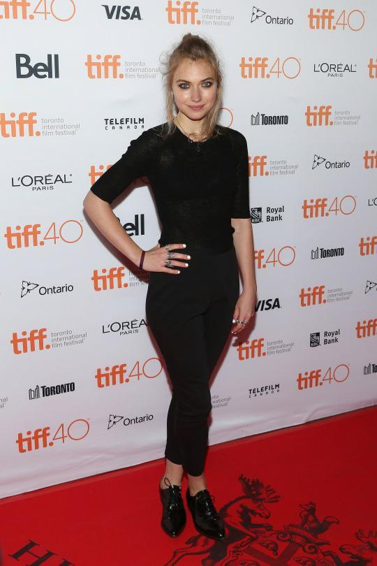 <p>While most women on the red carpet wore gowns to debut their new films, Imogen Poots kept it a little more casual in a very Audrey Hepburn look. She might've simply been in black cropped pants, a long-sleeved shirt, and Oxford shoes, but the ensemble was all elegance. <br> </p>