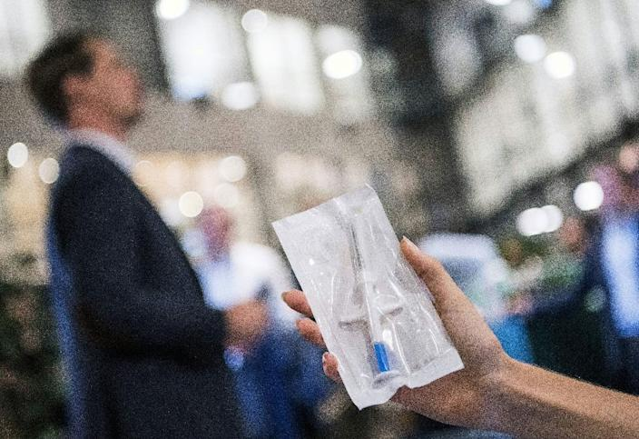 Sweden has a track record on the sharing of personal information, which may have helped ease the microchip's acceptance there (AFP Photo/Jonathan NACKSTRAND)