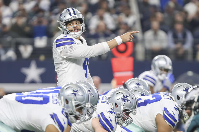 The Cowboys can clinch the NFC East title with a victory Sunday in Indianapolis. (Getty Images)
