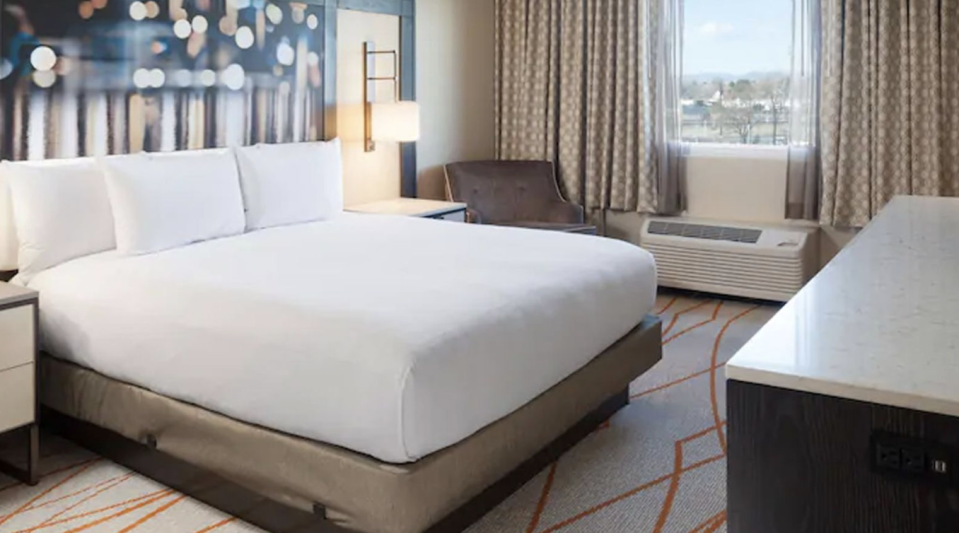 A stock image of a room at the DoubleTree Hilton in Denver. Source: DoubleTree Hilton