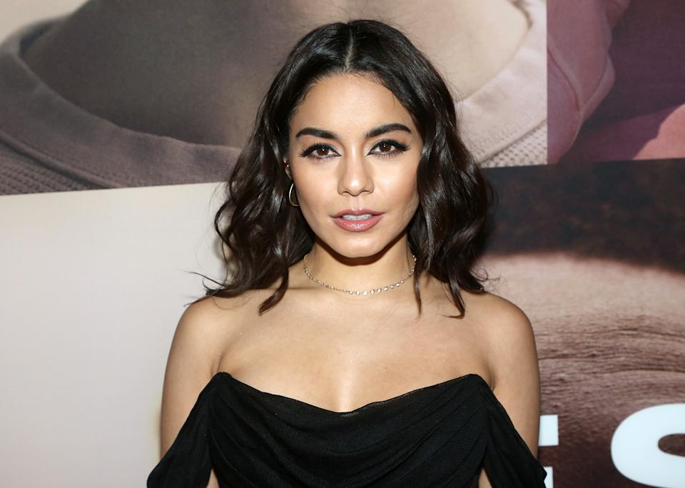 """Vanessa Hudgens poses at the opening night of the revival of Ivo van Hove's """"West Side Story""""on Broadway at The Broadway Theatre on February 20, 2020 in New York City. (Photo by Bruce Glikas/WireImage)"""