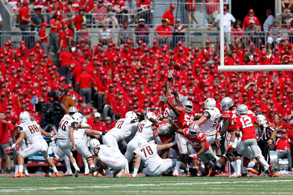 Jake Suder hit 9-of-12 field goals for Bowling Green in 2016. (Getty Images)