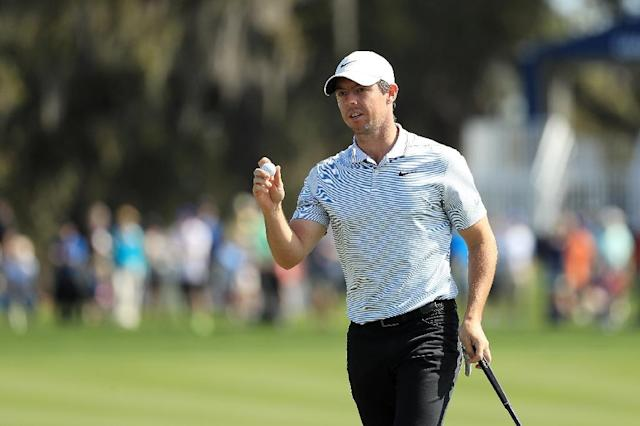 Rory McIlroy fired a five-under par 67 to stand two off the lead in Thursday's first round of the US PGA Players Championship (AFP Photo/Mike Ehrmann)