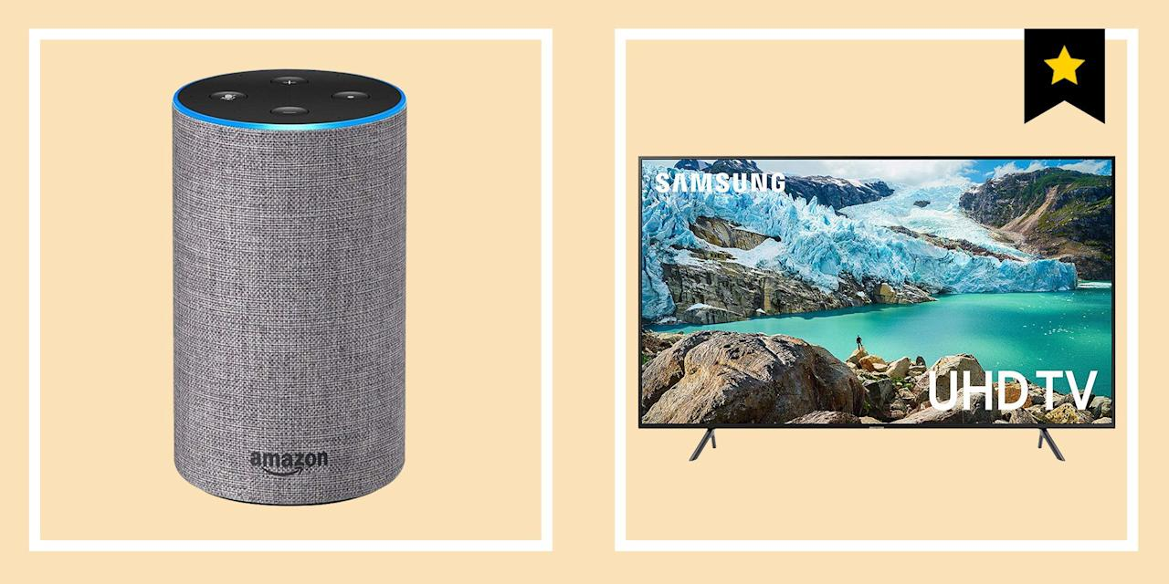 """<p><a href=""""https://www.amazon.com/l/13887280011"""" target=""""_blank"""">Amazon Prime Day</a> is upon us, which means anyone with a Prime membership has been given the opportunity to dump a significant portion of their paycheck on a bunch of deals—some of them good deals, some not so good. There are some significant deals on cool tech right now that you can cash in on.</p><p>Since the Amazon website is something of a nightmare to behold, we pulled out some of the better tech deals for you to peruse. That includes <a href=""""https://www.amazon.com/b/ref=gbpp_itr_m-5_ff64_AMZONDEV?node=14611812011&gb_f_GB-SUPPLE=MARKETING_ID:AMZDEVICES&gb_ttl_GB-SUPPLE=Amazon%2520Devices&ie=UTF8"""" target=""""_blank"""">Amazon devices</a>, like the Echo speaker with Alexa, and a bundle with the Echo Dot speaker and a smart Ring doorbell. There's a 4K Samsung TV and an Apple Watch. You can shop an Instant Pot and robot vacuum for your home, too. </p><p>Of course, these deals all will come and go as the event heats up. Amazon is nothing if not completely unpredictable. So stay tuned. As Prime Day progresses, we'll update this list with even more electronics that just might be worth shelling out your money for. Until then, here are the best tech deals to shop (so far) from <a href=""""https://www.amazon.com/l/13887280011"""" target=""""_blank"""">Amazon Prime Day 2019</a>. You can also shop more electronics, tools, home, and outdoor gear over at our full list of our favorite <a href=""""https://www.popularmechanics.com/home/a28379550/prime-day-deals-2019/"""" target=""""_blank"""">Amazon Prime Deals</a>. </p>"""