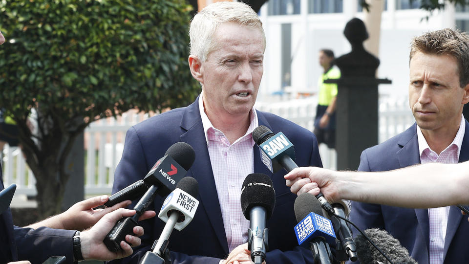 Craig Tiley, pictured here speaking to the media in Melbourne in January.