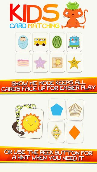 Kids Card Matching Educational Shapes and Color Learning Game for Toddlers 形狀記憶匹配遊戲,app說明由三嘻行動哇@Dr.愛瘋所提供