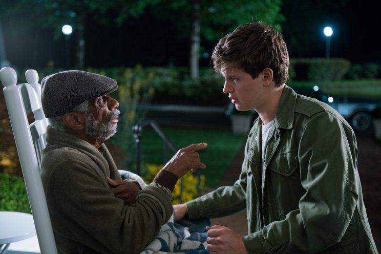 CJ Jones and Ansel Elgort in 'Baby Driver' (Sony)
