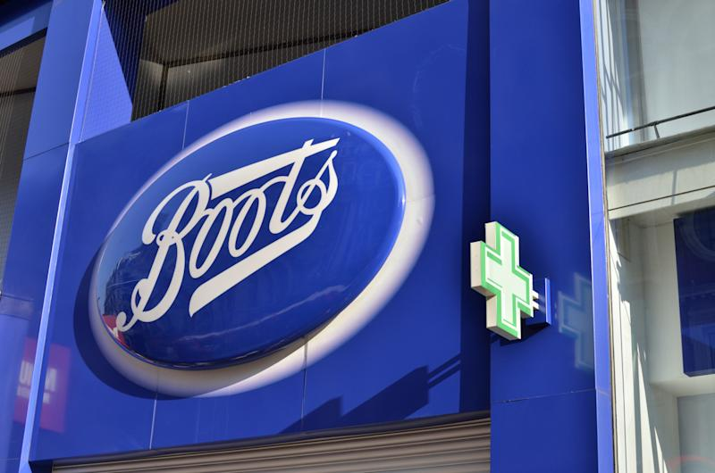 Boots chemist sign logo. (Photo by: Loop Images/Universal Images Group via Getty Images)