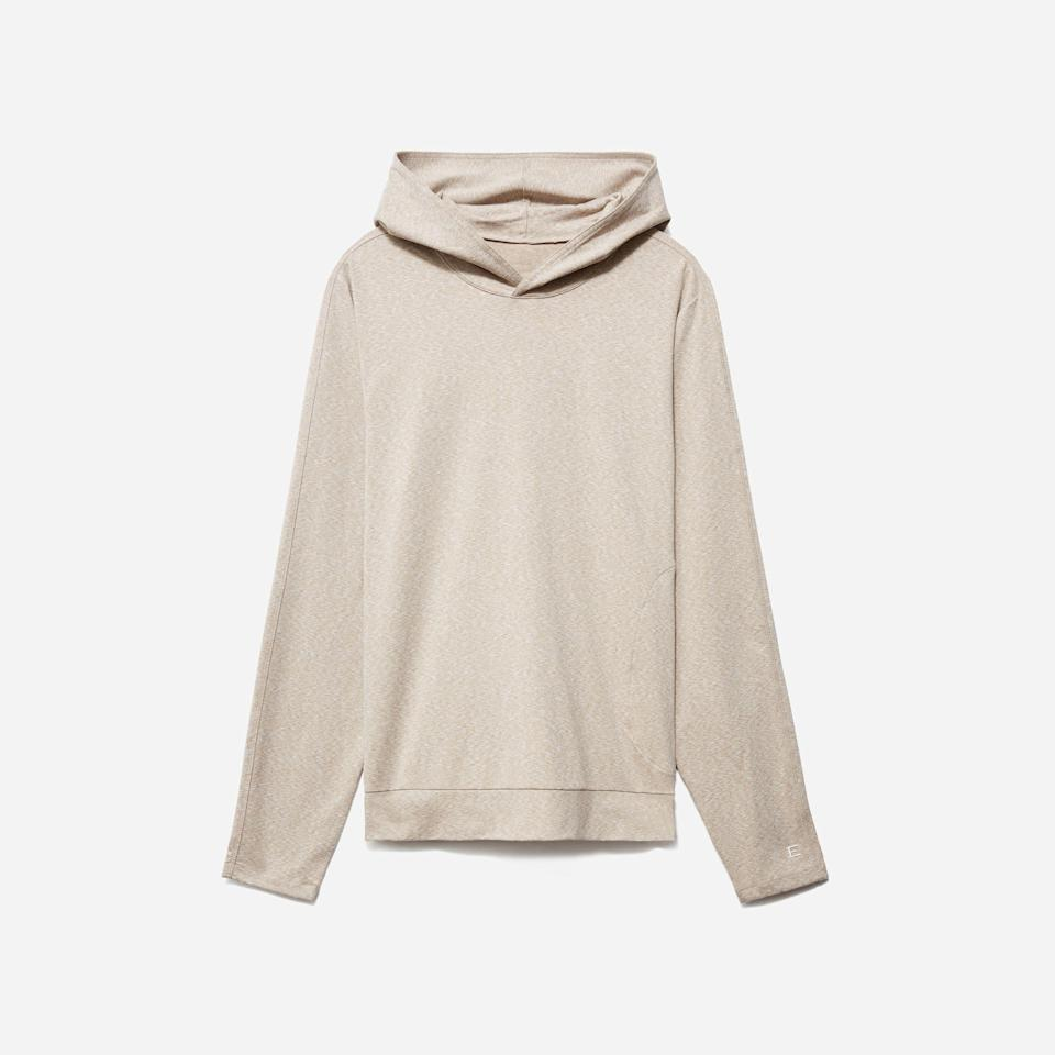 """<p><strong>Everlane</strong></p><p>everlane.com</p><p><strong>$60.00</strong></p><p><a href=""""https://go.redirectingat.com?id=74968X1596630&url=https%3A%2F%2Fwww.everlane.com%2Fproducts%2Fmens-renew-air-hoodie-hthr-putty&sref=https%3A%2F%2Fwww.esquire.com%2Fstyle%2Fmens-fashion%2Fg36368267%2Fbest-new-menswear-may-7-2021%2F"""" rel=""""nofollow noopener"""" target=""""_blank"""" data-ylk=""""slk:Shop Now"""" class=""""link rapid-noclick-resp"""">Shop Now</a></p><p>Speaking of the weather taking a turn: If you run hot, Everlane's got the perfect summer hoodie for you.</p>"""