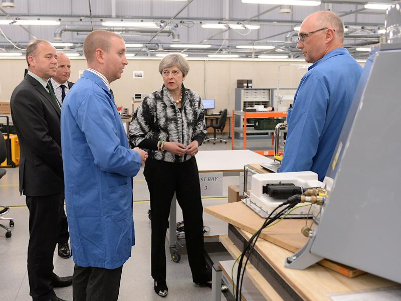 The Prime Minister made the remarks on a visit to a factory in Enfield: Reuters