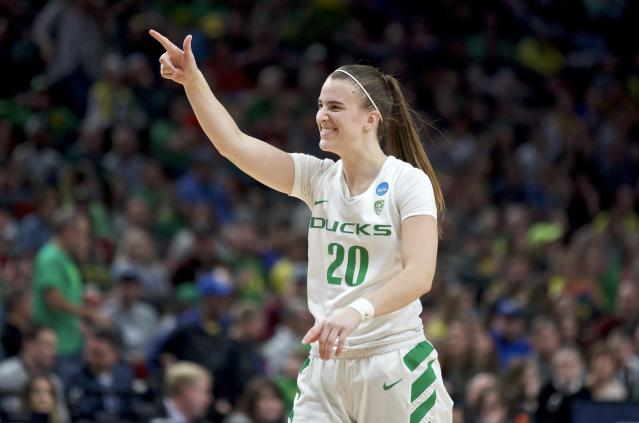 Oregon guard Sabrina Ionescu is likely the No. 1 pick in the 2020 WNBA draft. (AP Photo/Craig Mitchelldyer)