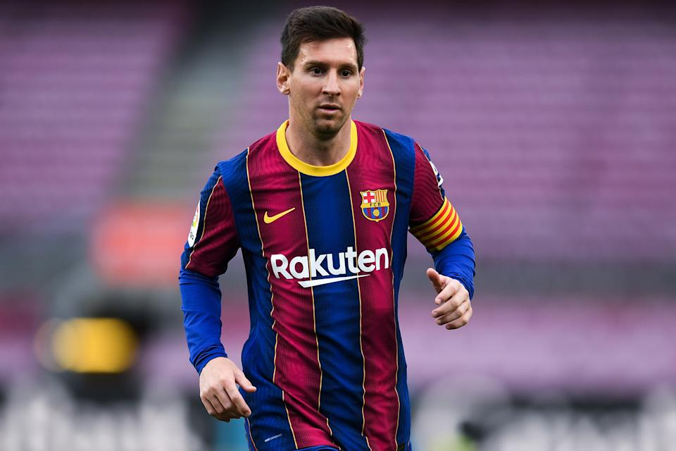Lionel Messi with FC Barcelona.