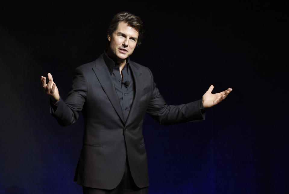 Tom Cruise, star of the upcoming film
