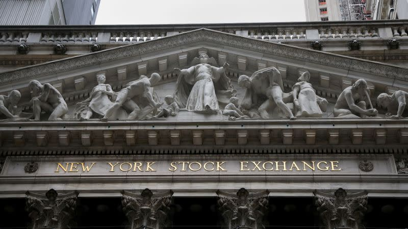 Wall Street closes higher on U.S. stimulus hopes, gold spikes and dollar drops