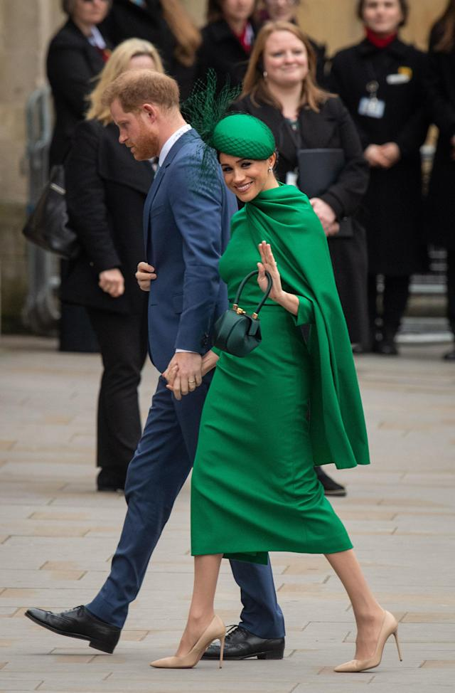 Meghan has reportedly flown back to be back with Archie. (Getty Images)